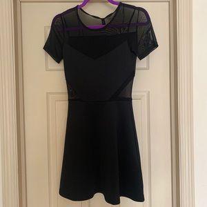 NWT Black Mesh Mini Dress